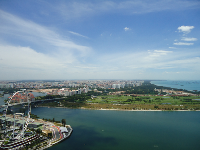 Singapore East Coast from Sands SkyPark